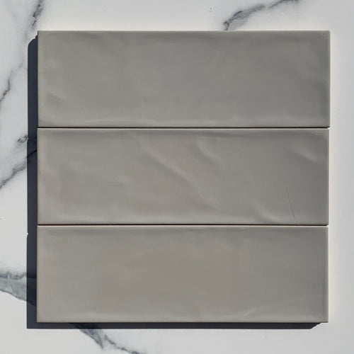 Valonia Smoke Gloss Subway Tile - Yeomans Bagno Ceramiche