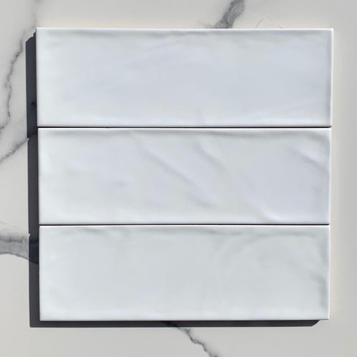 Valonia White Satin Subway Tile - Yeomans Bagno Ceramiche