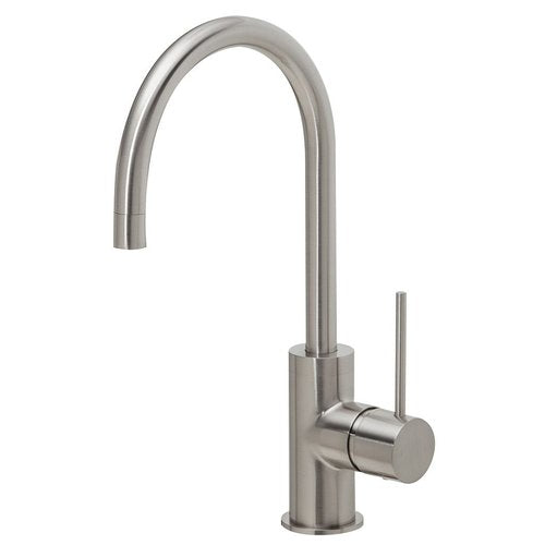 Phoenix Vivid Slimline Sink Mixer 160mm Gooseneck - Brushed Nickel - Yeomans Bagno Ceramiche