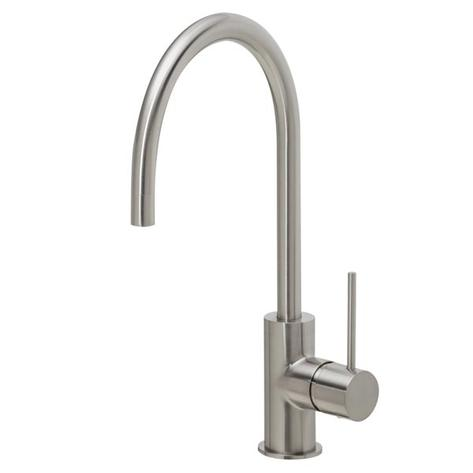 Phoenix Vivid Slimline Sink Mixer 220mm Gooseneck - Brushed Nickel - Yeomans Bagno Ceramiche