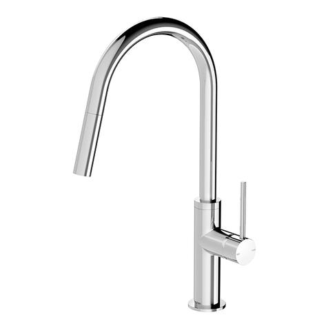 Phoenix Vivid Slimline Pull Out Sink Mixer - Chrome - Yeomans Bagno Ceramiche
