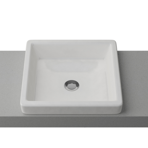 Timberline Modex Semi-Inset White Gloss Basin - Yeomans Bagno Ceramiche