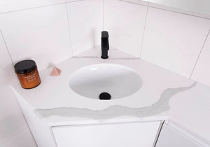 ADP Oval Under-Counter White Gloss Basin - Yeomans Bagno Ceramiche