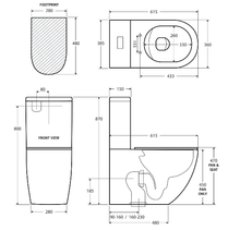 Load image into Gallery viewer, Fienza Alix Slim Seat Back-To-Wall Toilet Suite
