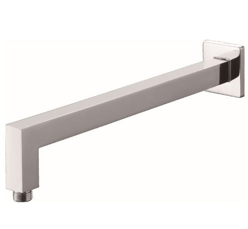 Badundküche Eckig Square Wall Shower Arm - Chrome - Yeomans Bagno Ceramiche