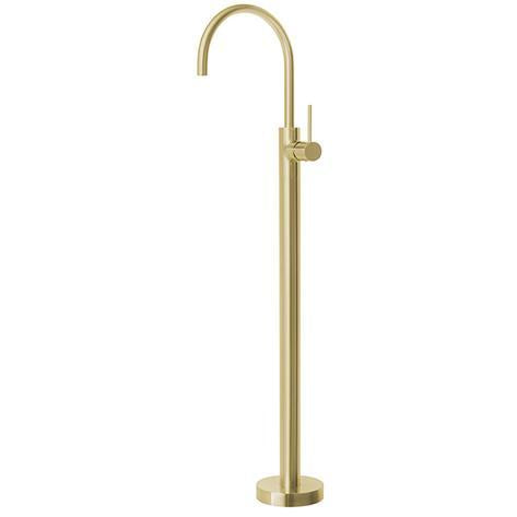 Vivid Slimline Floor Mounted Bath Mixer - Brushed Gold - Yeomans Bagno Ceramiche