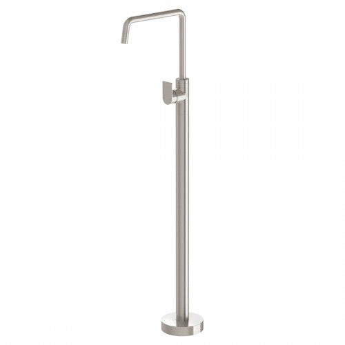 Phoenix Mekko Floor Mounted Bath Mixer - Brushed Nickel - Yeomans Bagno Ceramiche