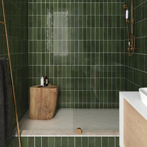 Astley Botanical Green Gloss Subway Tile