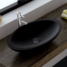 Load image into Gallery viewer, Fienza Bahama Matte Black Solid Surface Basin - Yeomans Bagno Ceramiche