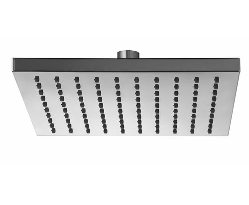 Badundküche Eckig Square Rain Shower Head 200mm - Chrome - Yeomans Bagno Ceramiche