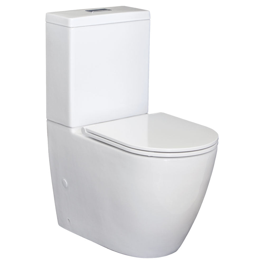 Fienza Empire Slim Seat Back-To-Wall Toilet Suite -Yeomans Bagno Ceramiche