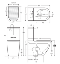 Load image into Gallery viewer, Fienza Empire Slim Seat Back-To-Wall Toilet Suite