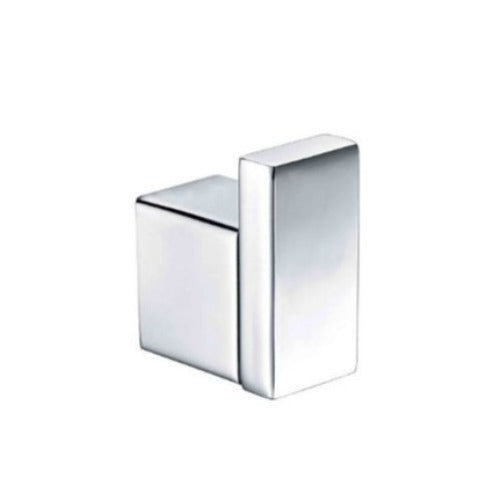 Badundküche SS Eckig Single Robe Hook - Chrome - Yeomans Bagno Ceramiche