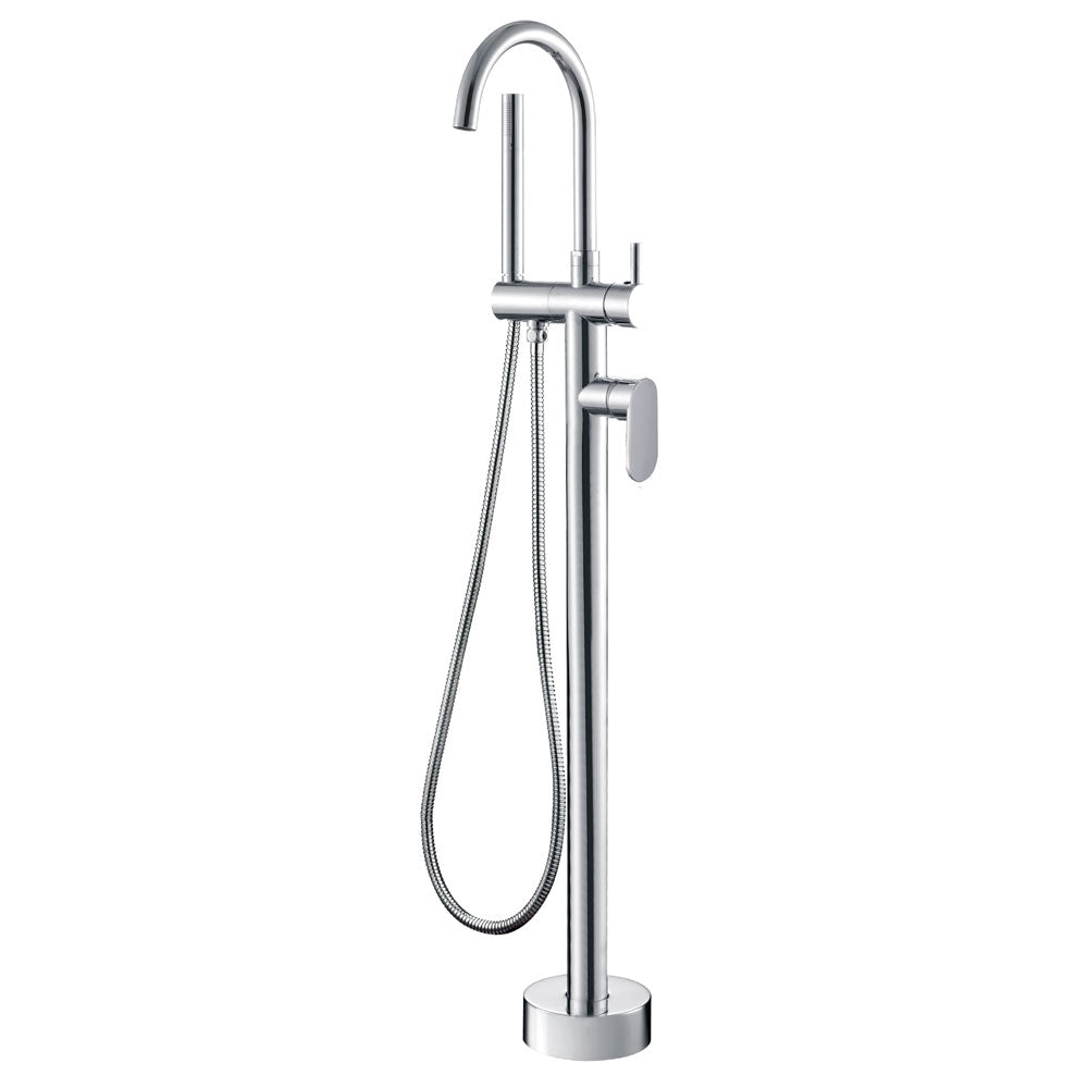Fienza Empire Floor Standing Mixer & Shower Head - Chrome - Yeomans Bagno Ceramiche