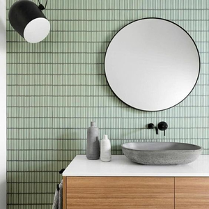 Soho Finger Mosaic Green Mint - Yeomans Bagno Ceramiche