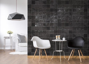 Warwick Charcoal Gloss Square Subway Tile - Yeomans Bagno Ceramiche