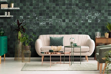 Load image into Gallery viewer, Warwick Verde Oscuro Square Subway Tile - Yeomans Bagno Ceramiche