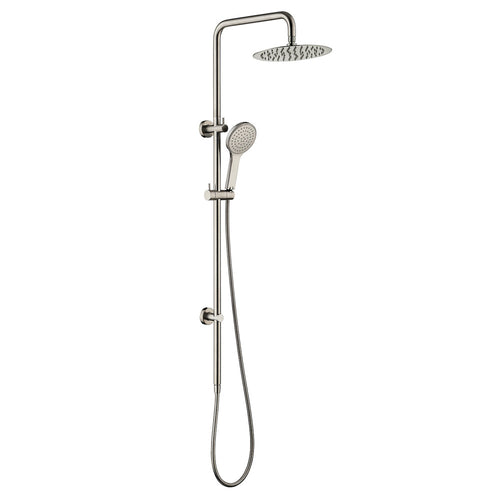Fienza Kaya Twin Rail Shower - Brushed Nickel - Yeomans Bagno Ceramiche
