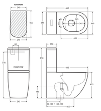 Load image into Gallery viewer, Fienza Koko Skinny Seat Back-To-Wall Toilet Suite