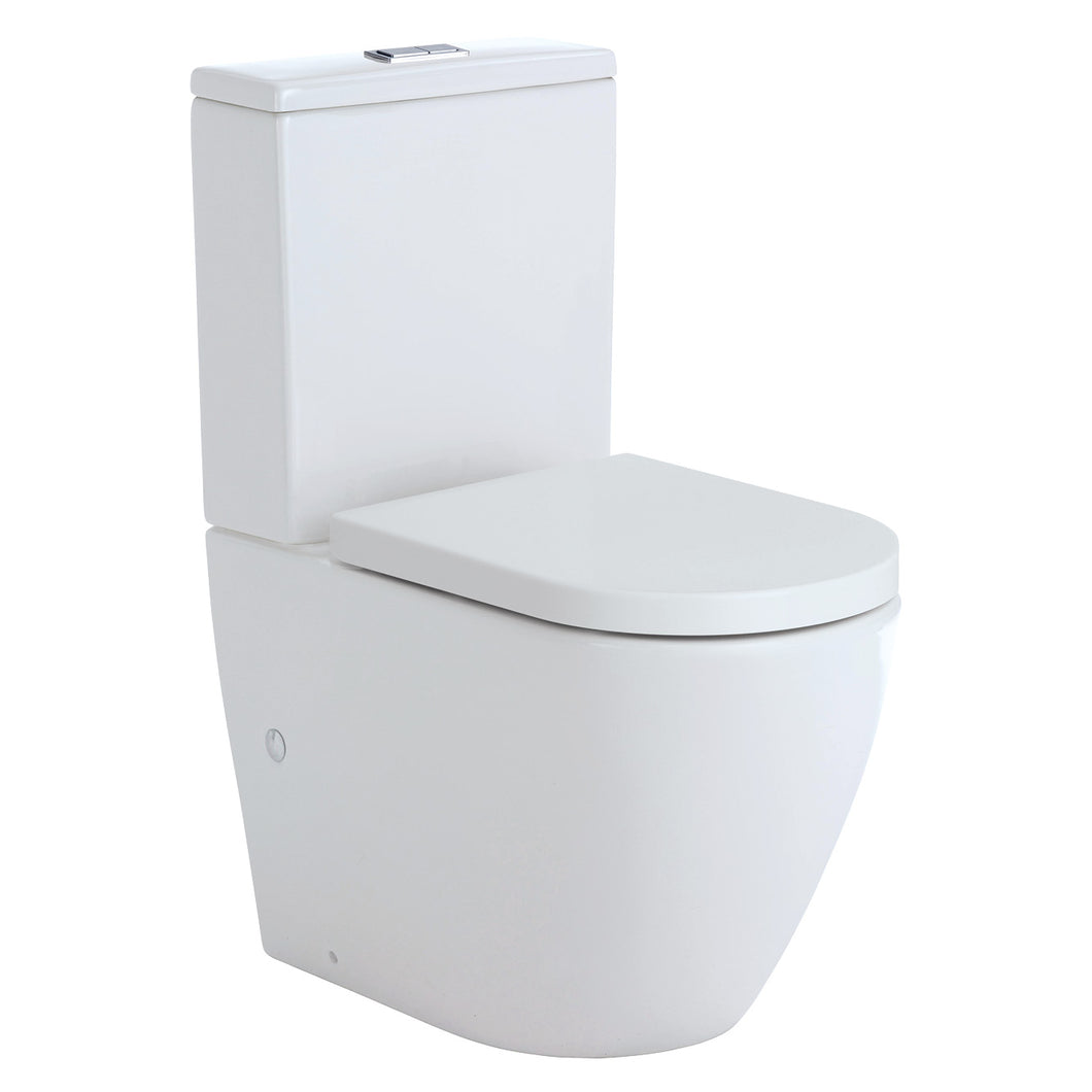 Fienza Koko Back-To-Wall Toilet Suite Matte White - Yeomans Bagno Ceramiche