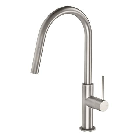 Phoenix Vivid Slimline Pull Out Sink Mixer - Brushed Nickel - Yeomans Bagno Ceramiche