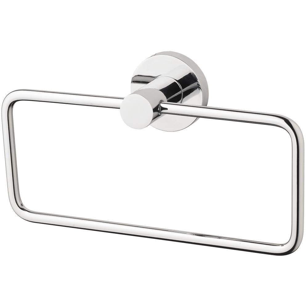 Phoenix Radii Hand Towel Holder Round Plate - Chrome - Yeomans Bagno Ceramiche