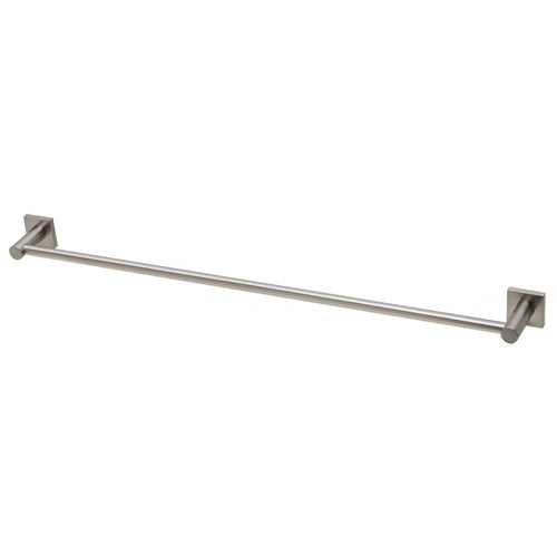 Phoenix Radii Single Towel Rail 800mm Square Plate - Brushed Nickel - Yeomans Bagno Ceramiche