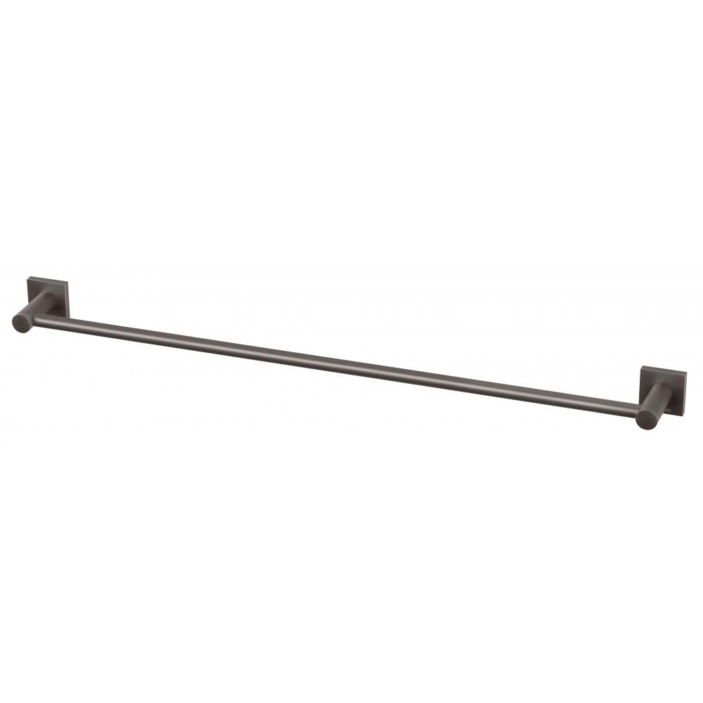 Phoenix Radii Single Towel Rail 800mm Square Plate - Gun Metal - Yeomans Bagno Ceramiche