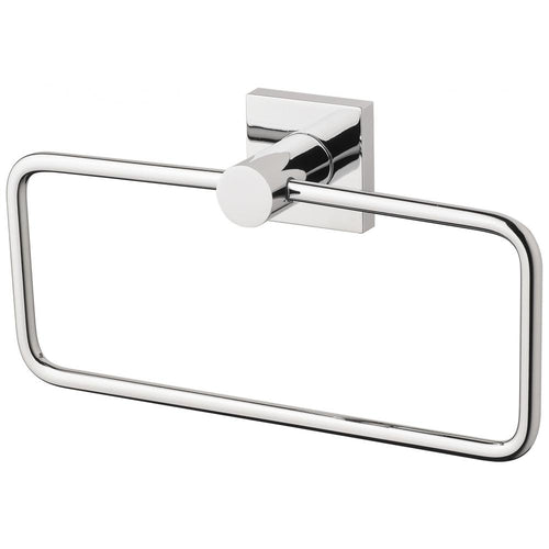 Phoenix Radii Hand Towel Holder Square Plate - Chrome - Yeomans Bagno Ceramiche