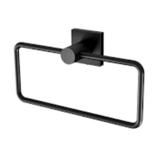 Load image into Gallery viewer, Phoenix Radii Hand Towel Holder Square Plate - Matte Black - Yeomans Bagno Ceramiche