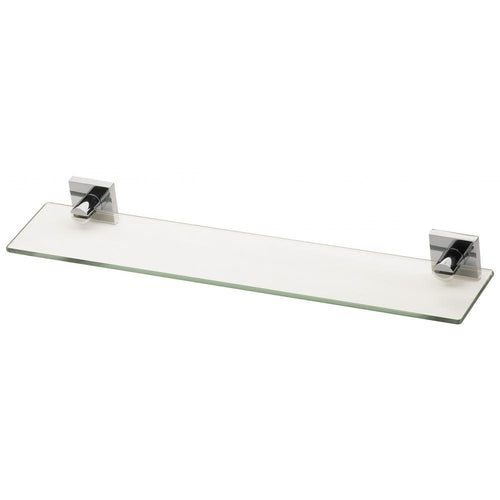 Phoenix Radii Glass Shelf Square Plate - Chrome - Yeomans Bagno Ceramiche