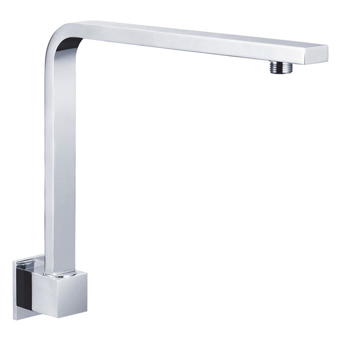 Fienza Square Fixed Gooseneck Wall Arm - Chrome  - Yeomans Bagno Ceramiche