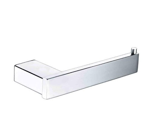 Badundküche SS Eckig Toilet Roll Holder - Chrome - Yeomans Bagno Ceramiche