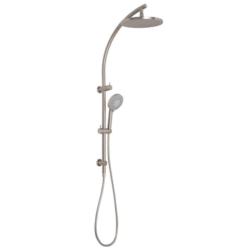 Phoenix Vivid Twin Shower - Brushed Nickel - Yeomans Bagno Ceramiche
