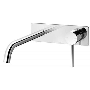 Vivid Slimline Wall Mixer Set 230mm Curved - Chrome - Yeomans Bagno Ceramiche