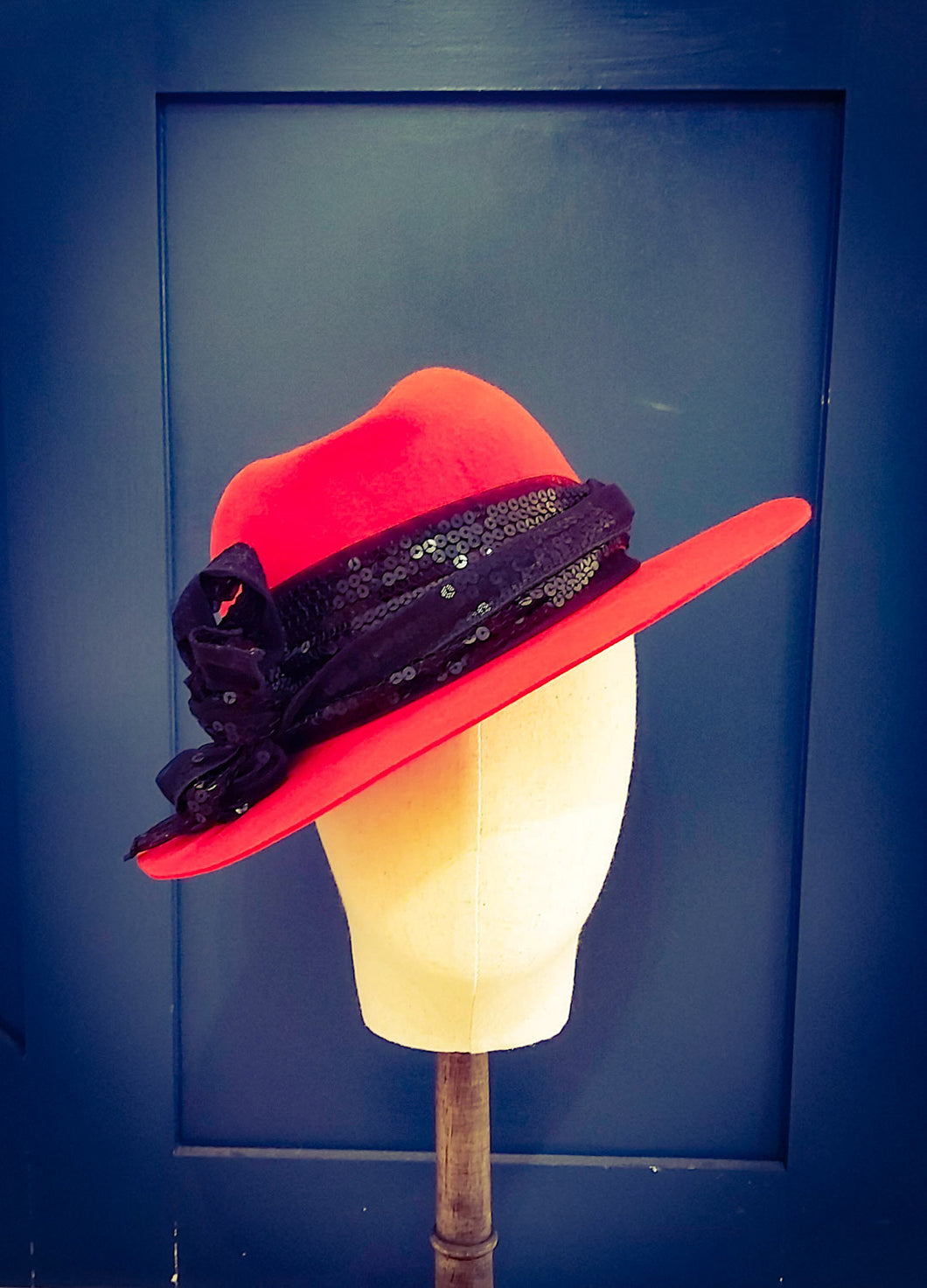 Red Felt Ladies Hat