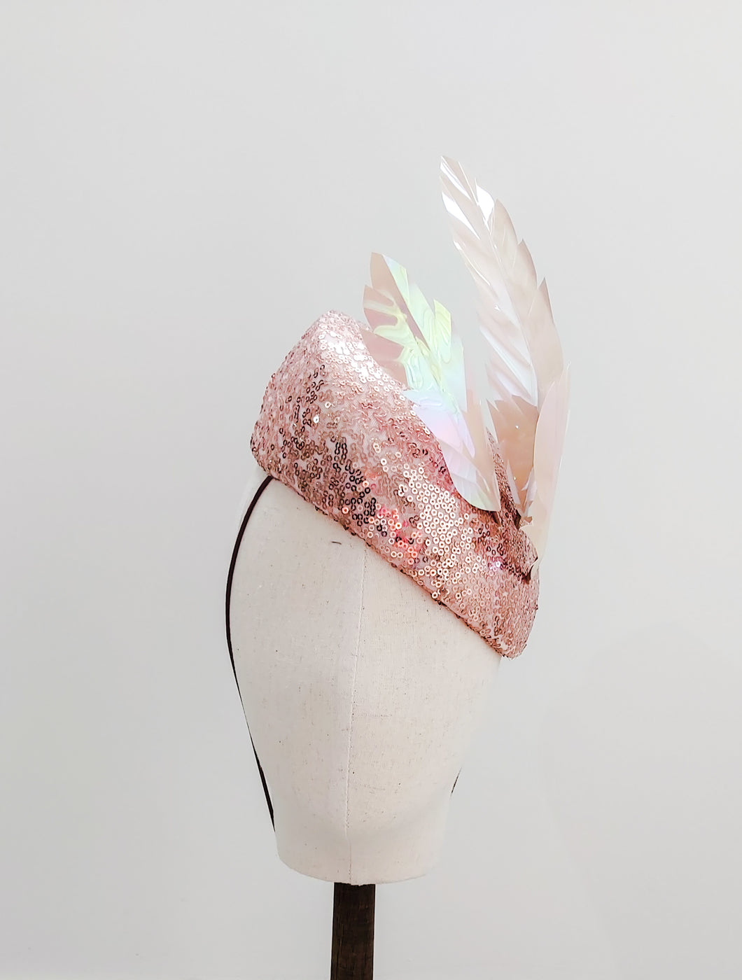 Rose Gold Sequin Headpiece