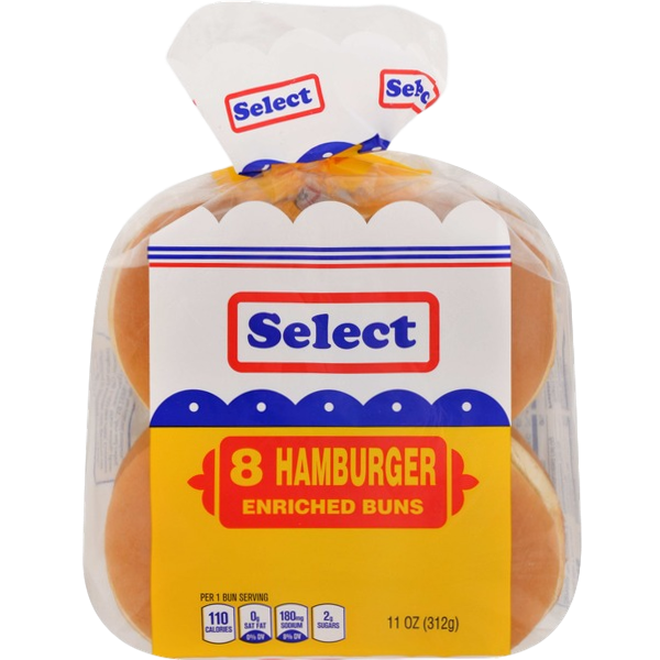 Select Enriched White Hamburger Buns