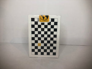 Black/Yellow Checkerboard Playing Cards
