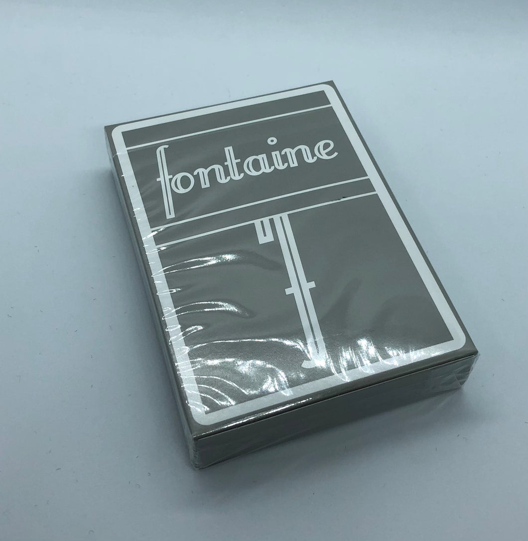 Gray Fontaine Playing Cards