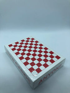 Red Checkerboard Playing Cards