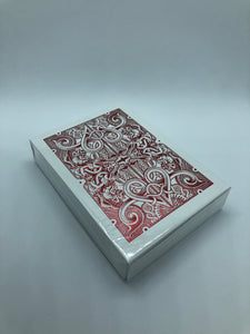 Red Gatorback Playing Cards
