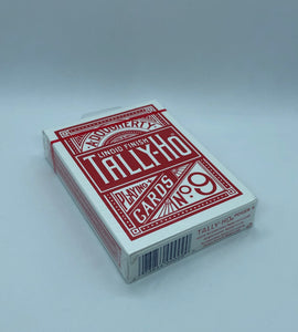 Red Tally Ho Circle Back Playing Cards