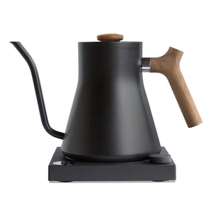 Stagg EKG .9L Variable Temperature Electric Kettle color matte black with walnut accents