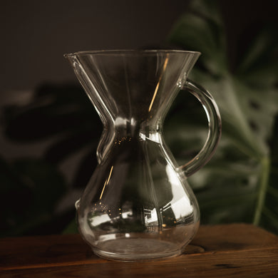 6 cup size glass handled Chemex Coffeemaker
