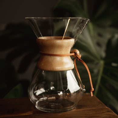 6 cup size Glass Chemex Coffeemaker with wood handle