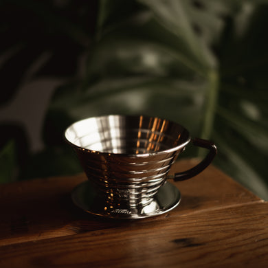 Stainless steel Kalita Wave coffee dripper pour over brewer