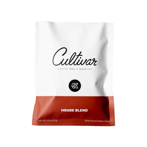 Portion Packs in 2.5 oz bags of our roasted House Blend coffee.