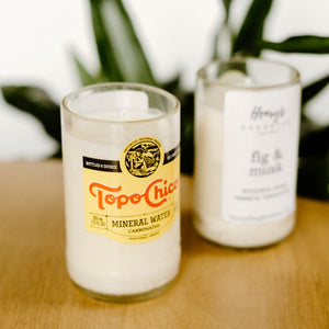 Topo Chico Bottle Soy Candles