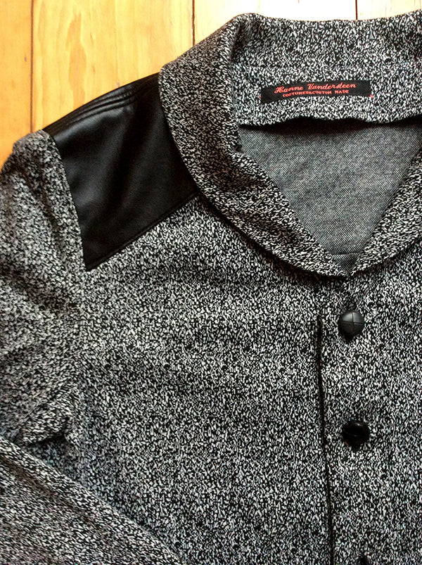 Newcastle Cardigan Seppe Leather Patch detail